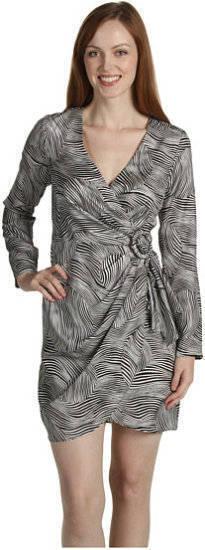 Trina Trina Trina Turk Faux Wrap Zebra Animal Print Silk Dress 8  209 NWT 4d0d62