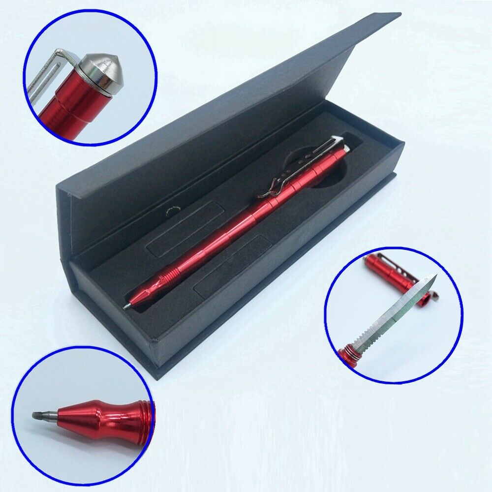 Multi Function Tactical Pen Writing Blade Self Defense Car W