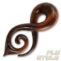 Holz Dehnungsspirale ohr piercing expander wood ear taper flesh tunnel plug horn