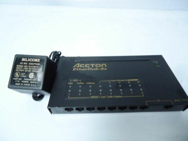 EN2040 P//N 19030070 Accton CheetaHub Classic-2040 8-Port Ethernet Hub W// ADAPTER