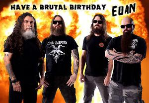 slayer   thrash speed heavy metal personalised happy birthday, Birthday card