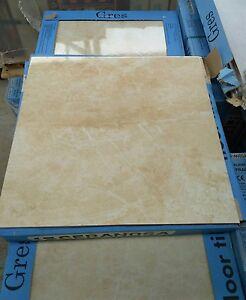 TILES JOB LOT 03: Glossy marble look cream floor tiles, 19m2 | eBay