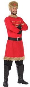 Deguisement-Homme-RUSSE-Rouge-XL-Costume-Adulte-Pays-peuple-du-monde-NEUF