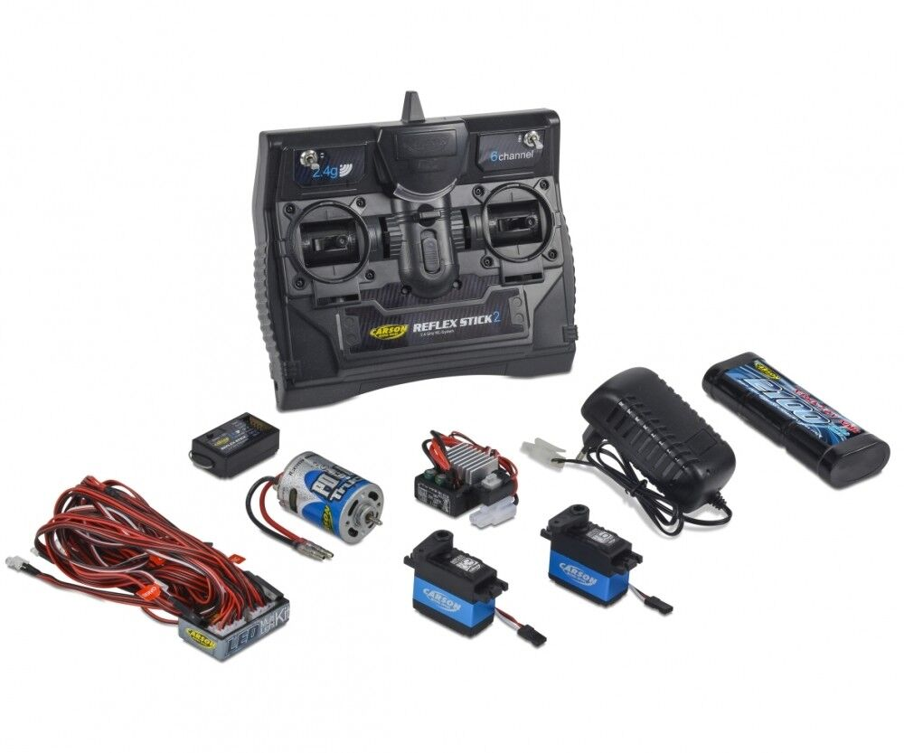 Carson 500501015-reflex Stick Truck-set 2.4g 6 canal-nuevo