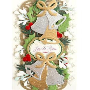 Stanzschablone-Schneeflocke-Blume-Schelle-Blatt-Weihnachten-Hochzeit-Karte-Album