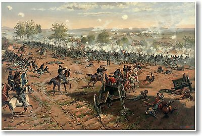 Battle of Gettysburg by Thure de Thulstrup - NEW Classroom Social Studies POSTER