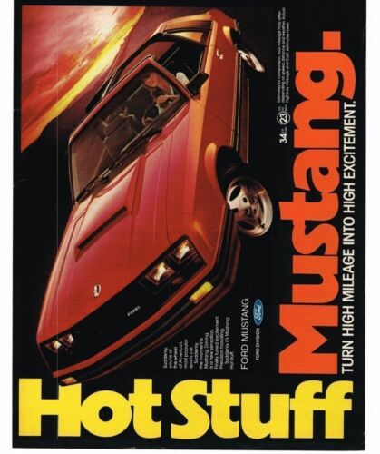1981 Ford Mustang Red TTop Hot Stuff Vintage Print Ad