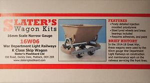 Slaters-16W06-War-Department-K-Class-Skip-Wagon-Kit-16mm-Scale-32mm-Gauge-T48Pos