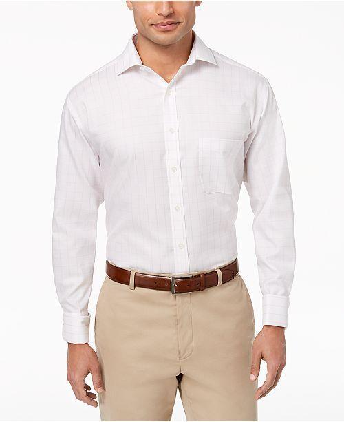 Tasso ELBA Mens White Size 18 Windowpane French Cuff Dress Shirt 69 #388