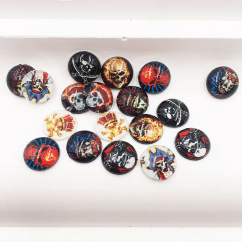 160pcs Mix Resin 10mm Round Colorful skull Flatback rhinestone DIY Christmas Art