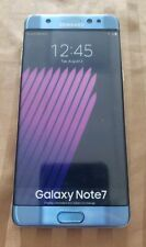 PERFECT REPLICA RARE SAMSUNG GALAXY NOTE 7 CORL BLUE DISPLAY PHONE (NON-WORKING)