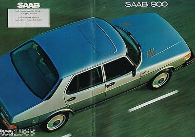 1981 Saab 900 Brochure/catalogo/opuscolo W/ Colore Chart: Turbo,900s,s,3 Door ,