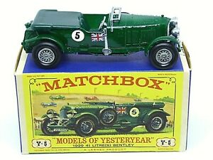 Matchbox-antano-Y5-2-1929-4-1-2-Litro-soplador-Bentley-039-D3-039-Caja-version-temprana