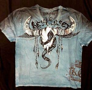 NEW KEY CLOSET T-Shirt TRIBAL BULL Green Crew S//S TEE Cotton TATTOO M-XL