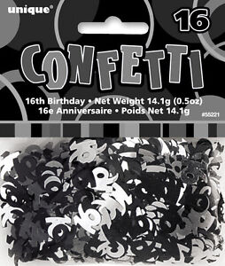16th-BIRTHDAY-PARTY-SUPPLIES-CONFETTI-FOR-TABLE-DECORATIONS-14g-SLVR-amp-BLK