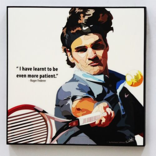 Roger Federer Fedex canvas quotes wall decals photo painting pop art poster