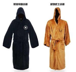 Hot-Sale-Star-Wars-Darth-Vader-Coral-Fleece-Terry-Jedi-Adult-Bathrobe-Robes-New