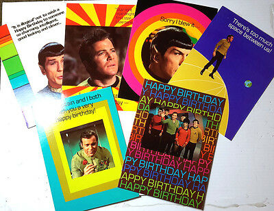 Star trek birthday cards collection on ebay set of 6 1976 random house star trek classic tv series birthday card w envelopes bookmarktalkfo Choice Image