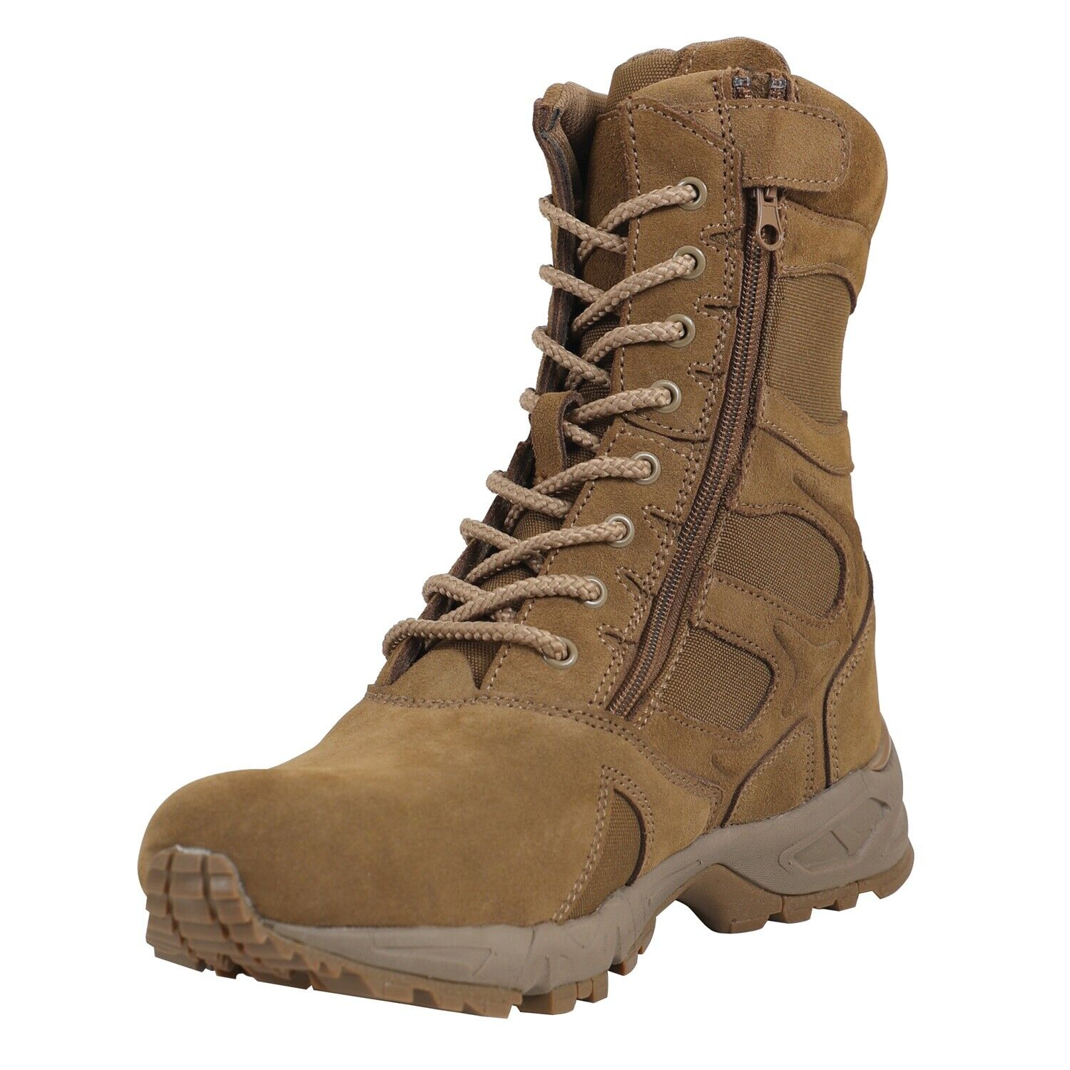 8  Forced Entry Deployment Boots Side Zipper AR 670-1 Coyote Brown redhco 5763