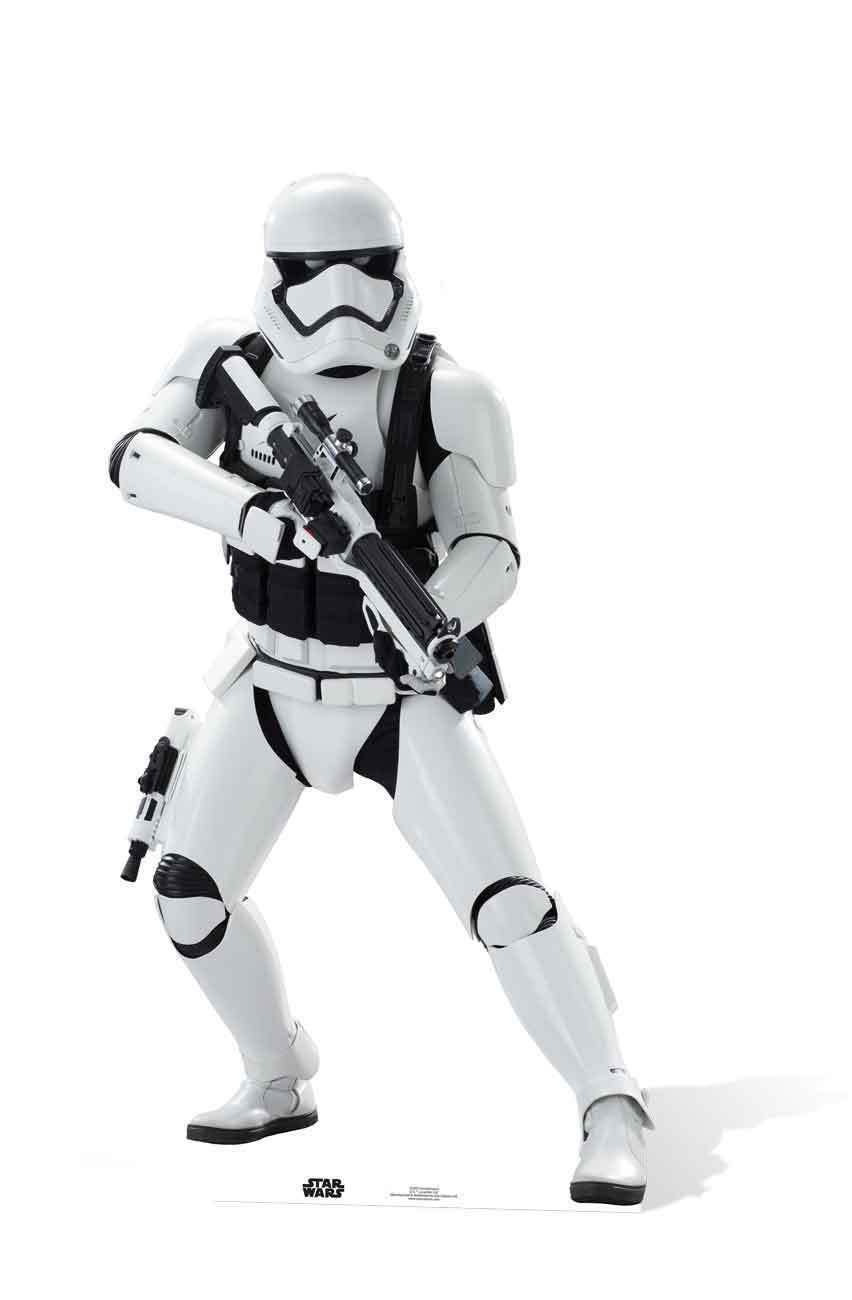 Stormtrooper First Order Star Wars The Force Awakens LIFEGröße CARDBOARD CUTOUT