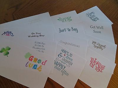 KIDS Birthday Card inserts For size 5x5 6x6 cards 12 assorted designs