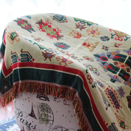 Tagesdecke Wohndecke Sofadecke Couchdecke Wendedecke Baumwolle Vintage Retro