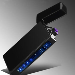 Plasma-cigarette-lighter-USB-charging-Windproof-Double-Arc-Electronic-lighters