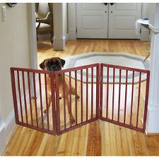 Pet Parade Folding Gate Wood Safety Fence Animal Pen Doorway Hall ...