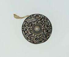 Antique Unger Bros Sterling Silver Art Nouveau Sewing Tape Measure