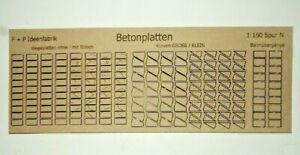 208-Betonplatten-Wegeplatten-Fahrwegplatten-Betonstrasse-Lasercut-Spur-N-L18