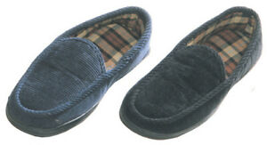 Maschismo-Mens-Slippers-House-Shoes-Corduroy-Slip-On-Moccasin-Indoor-Outdoor