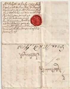 1745-DERBY-E-L-BEN-BLYTH-FRANKED-FREE-MATT-HOW-MAYOR-gt-ROBERT-NEWTON-SCARBOROUGH