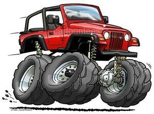 Jeep Wrangler Tj Cartoon Tshirt 0562 Ga Muscle Car Auto Ebay