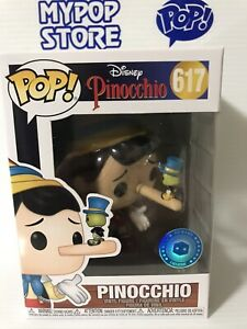 Protector IN HAND Disney #617 PINOCCHIO Pop In a Box PIAB Exclusive Funko Pop