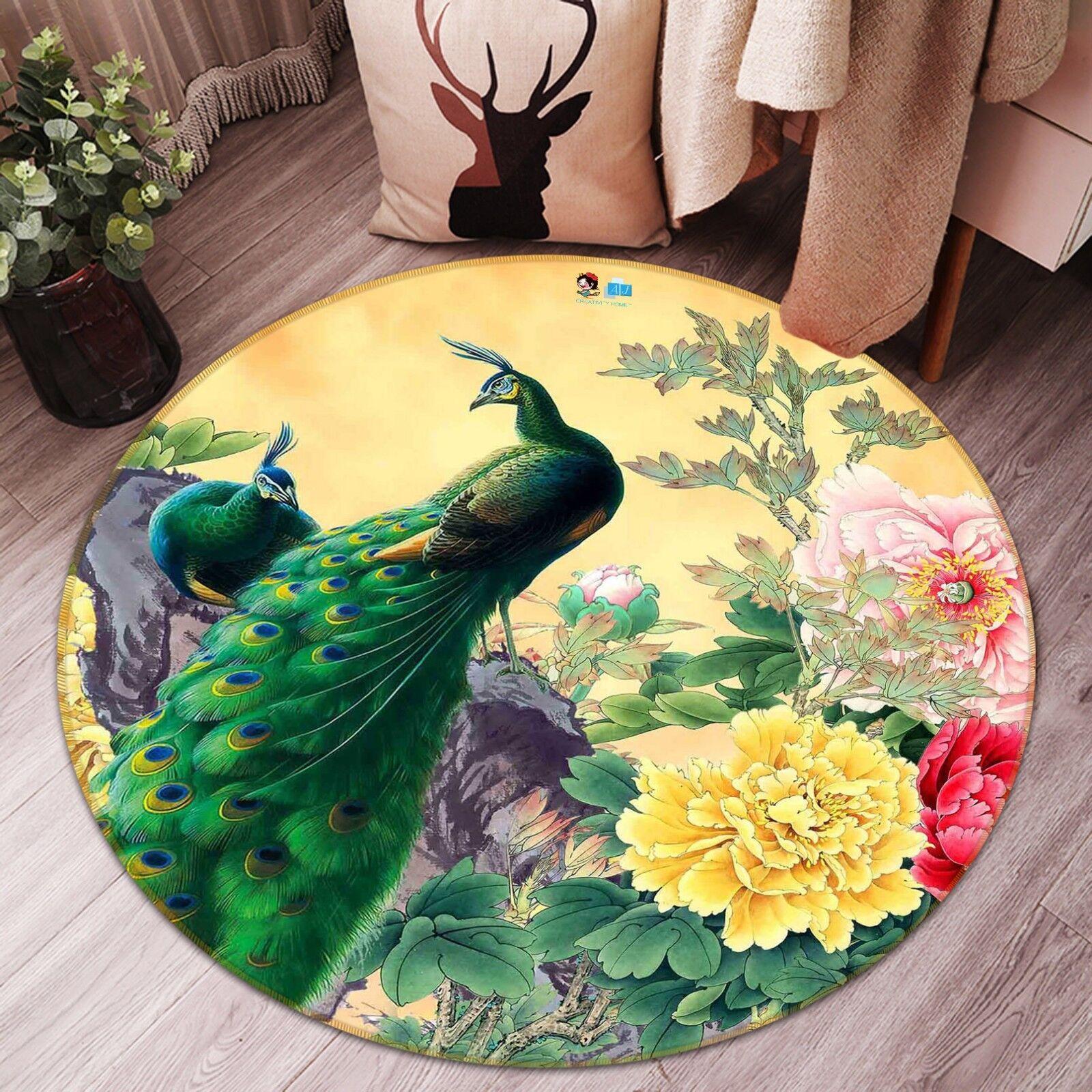 3D Pavone 211 Pavimento Antiscivolo Tappeti Elegante Tappeto IT Carly