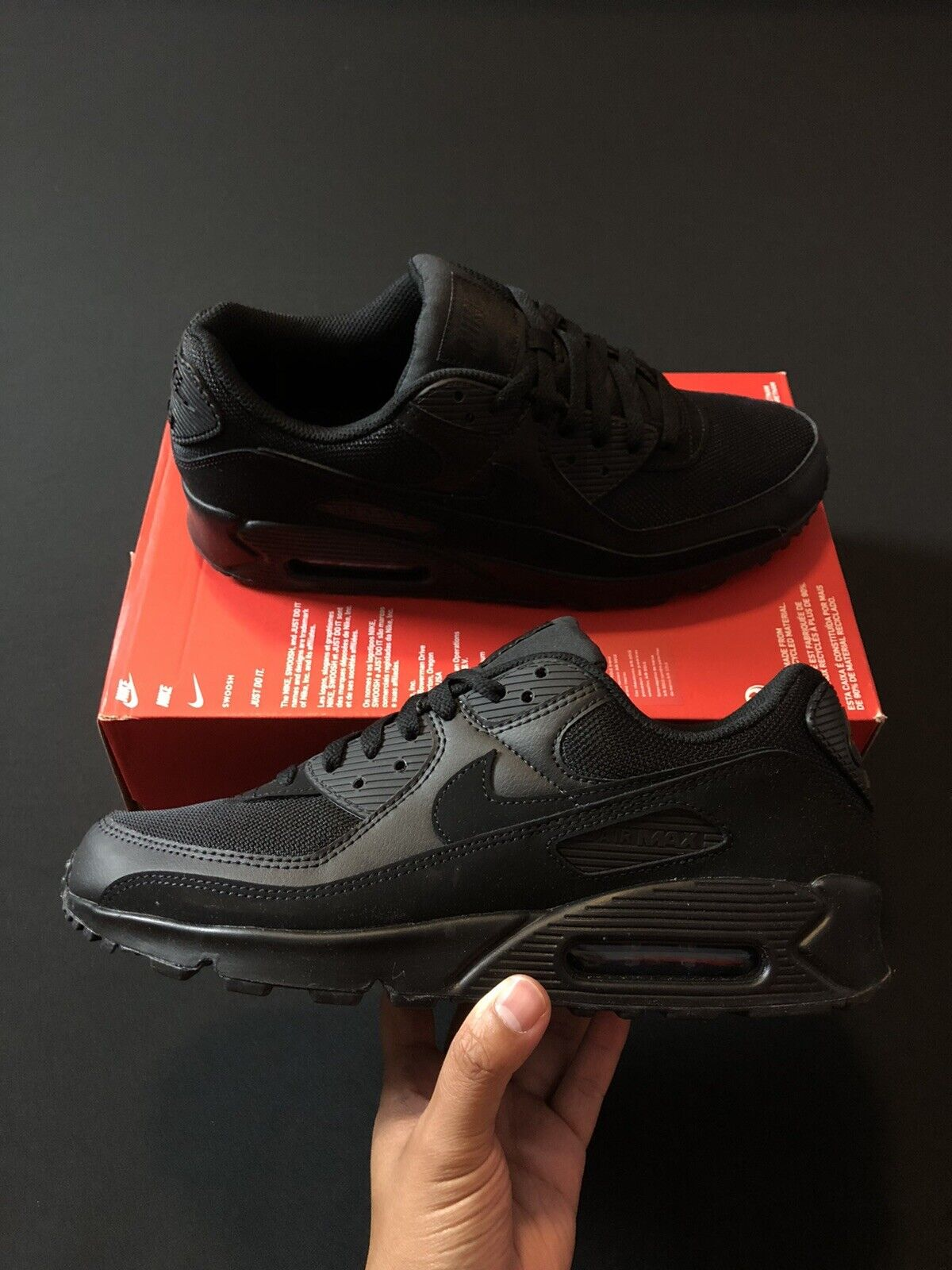 Size 12 - Nike Air Max 90 Triple Black 2020
