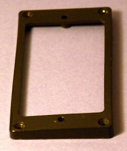 Guitar-Humbucker-Replacement-Mounting-Ring-Neck-Position-Used-Black-odd-size