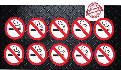 """No Smoking Set of 10 Decals Stickers 2/"""" x 2/"""" Clean Air Free Oxygen p148"""