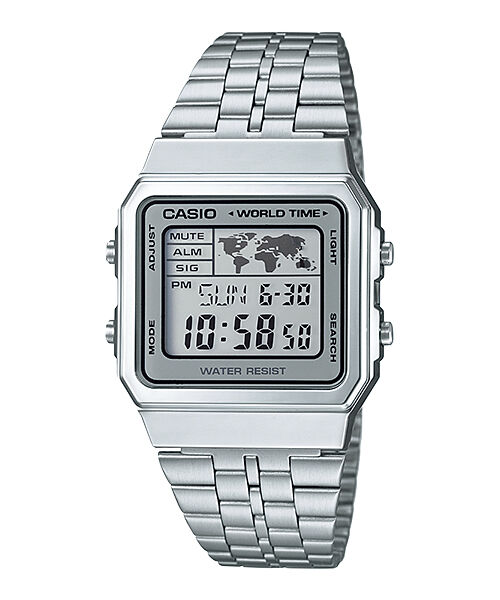 6ecbe4db83d8 A500WA-7D Casio Men s Watches Digital Stainless Steel Band Brand-New Model  New for sale online