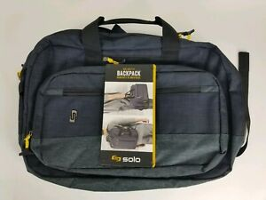 Solo Velocity 15 6 Laptop Hybrid Backpack Converts To Briefcase New Ebay