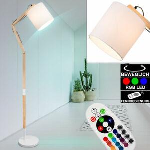 LED Boden Lampe Textil weiß RGB Fernbedienung dimmbar Wohn Zimmer Stand Leuchte