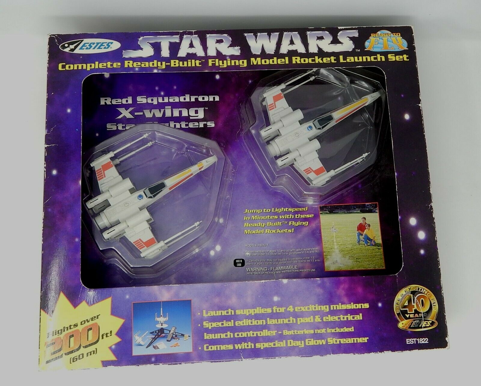 Star Wars Estes rouge Squadron X-wing Star Fighter R19656 NEUF
