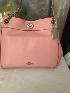 a59d4d7ba Image is loading NWT-Coach-36855-Turnlock-Edie-Pebble-Leather-Shoulder-