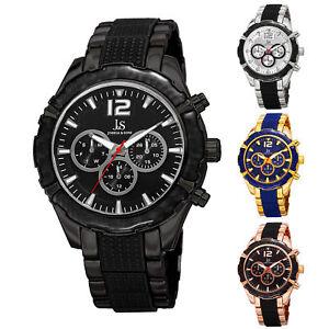 Men-039-s-Joshua-amp-Sons-JS98-Quartz-Multi-Function-Date-Two-Tone-Bracelet-Watch