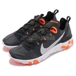 premium selection 03b17 35f65 Image is loading Nike-React-Element-55-Black-Grey-Orange-Men-