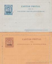 * PORTUGAL - 2 Cartão Postal - Overprinted 25/50 Reis, Açores