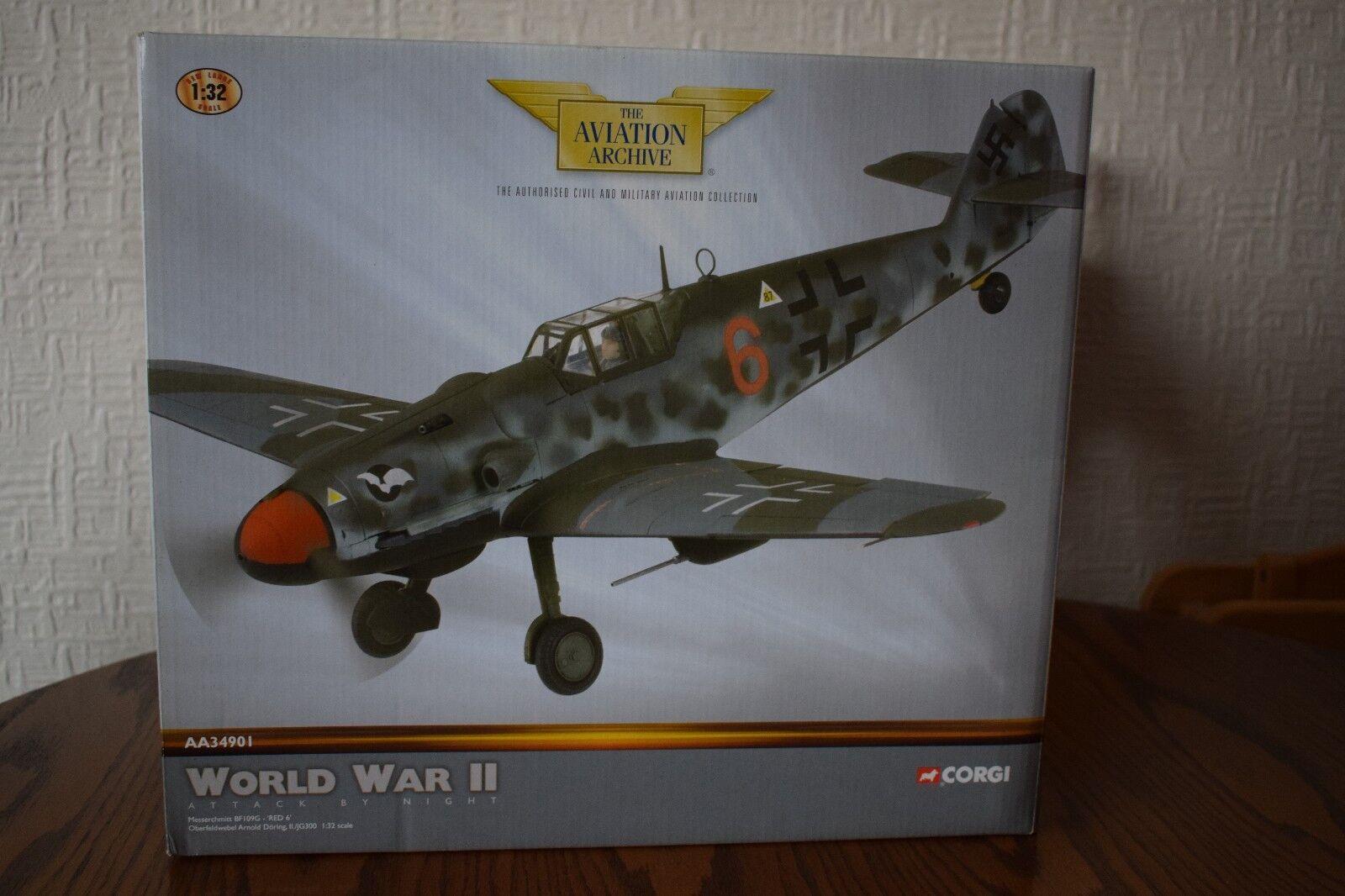 Corgi AA34901 Messerchmitt BF109G Red 6 Arnold Doring 1 32 scale Die Cast Model