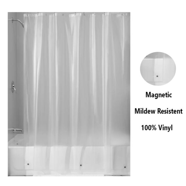 """Clear 100/% PEVA Bathroom Shower Curtain Liner with Magnets 70/"""" x 72/"""" in."""