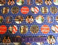 Military Home Of The Brave Weathered Scenes On Cotton Fabric Priced By The Yard