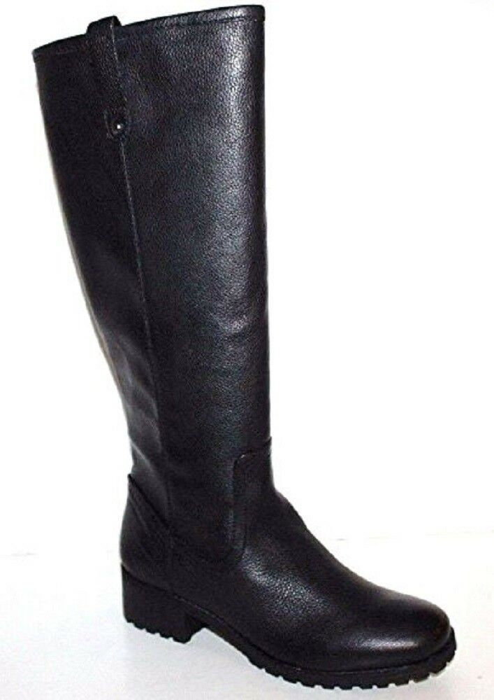 GH Bass NIB Women Nellie Black Leather Riding Riding Riding Boots w  Treaded Sole 9ab14f